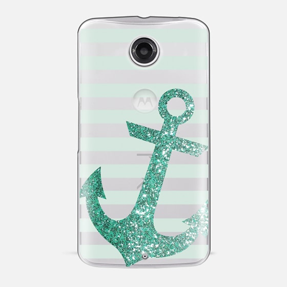 Glitter Anchor in Mint