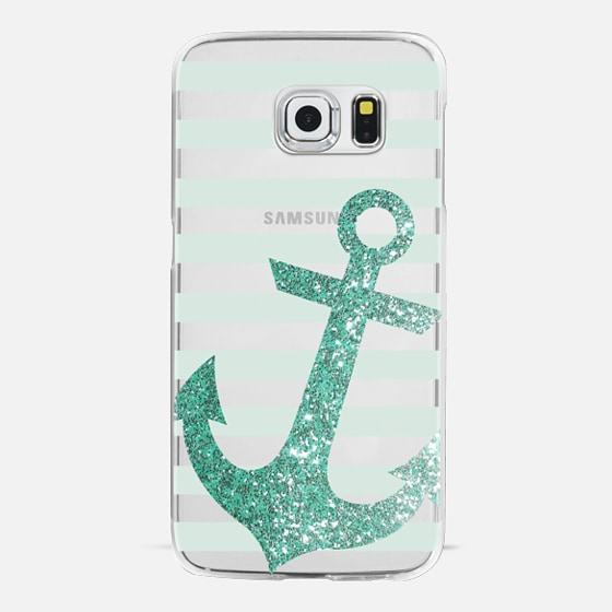 Glitter Anchor in Mint