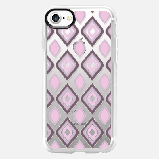 GIBSY IKAT IN PINK - CRYSTAL CLEAR PHONE CASE - Wallet Case