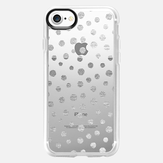 SILVERED DOTS - PHONE CRYSTAL CLEAR CASE - Wallet Case