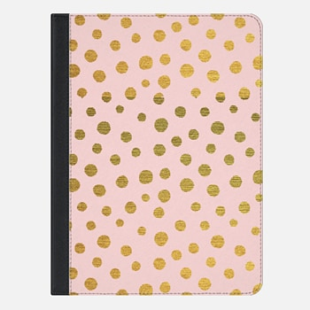 iPad Air 2 Case GOLDEN DOTS AND PINK - IPAD PHOTO COVER CASE