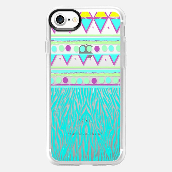 ANIMAL TRIBAL - CRYSTAL CLEAR PHONE CASE - Wallet Case