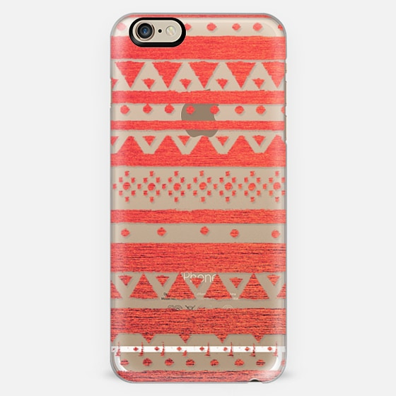 CORAL TRIBAL - CRYSTAL CLEAR PHONE CASE -