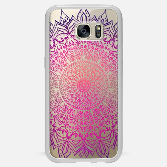 HAPPY BOHO MANDALA - CRYSTAL CLEAR PHONE CASE