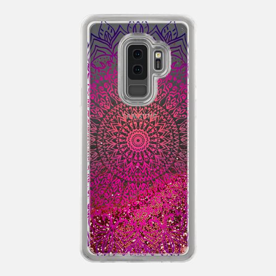 HAPPY BOHO MANDALA - CRYSTAL CLEAR PHONE CASE