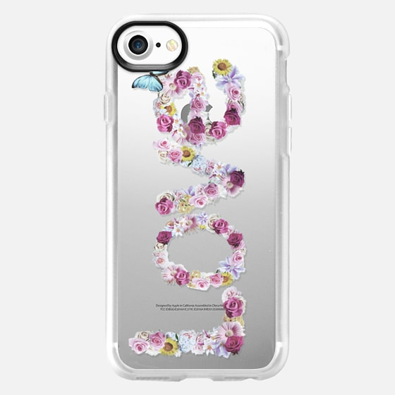 FLORAL LOVE - CRYSTAL CLEAR PHONE CASE - Wallet Case