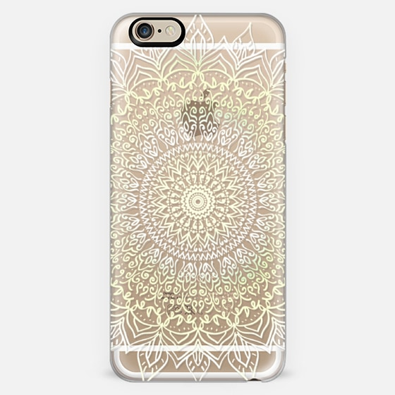 BOHO MANDALA IN PASTEL YELLOW AND WHITE- PHONE CASE -