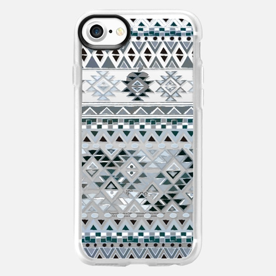 TRIBAL BOHO NATIVE - GRAY // CRYSTAL CLEAR PHONE CASE - Wallet Case