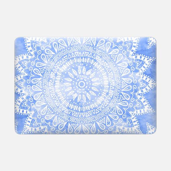 BLUE BOHEMIAN FLOWER MANDALA // MACBOOK SLEEVE