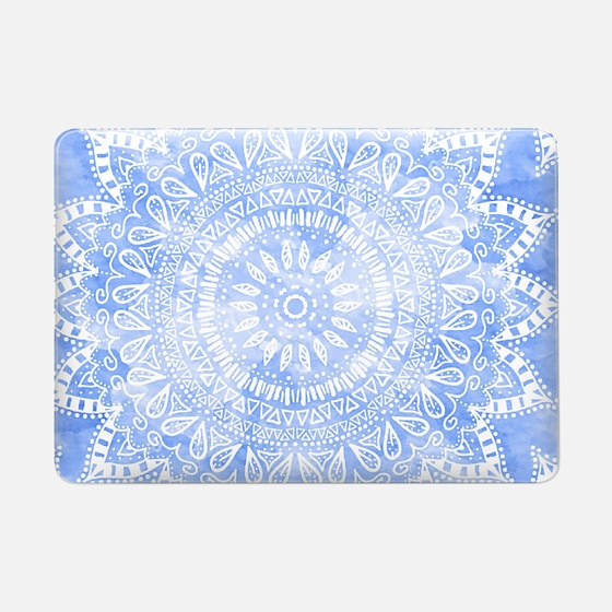 BLUE BOHEMIAN FLOWER MANDALA // MACBOOK SLEEVE