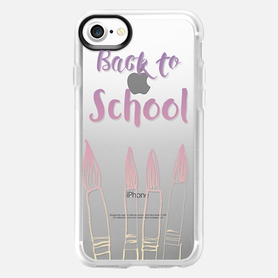 BACK TO SCHOOL IN PASTELS - CRYSTAL CLEAR PHONE CASE - Wallet Case