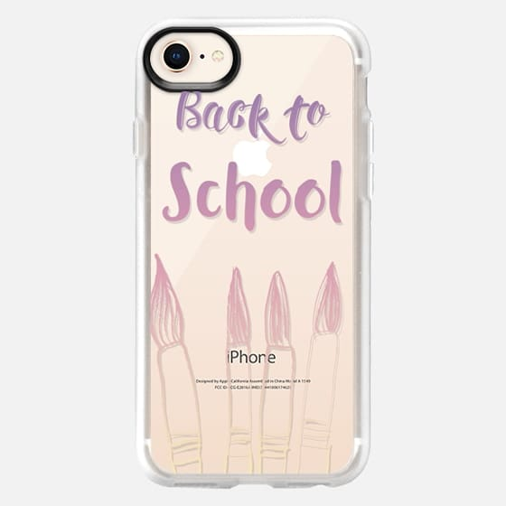 BACK TO SCHOOL IN PASTELS - CRYSTAL CLEAR PHONE CASE - Snap Case
