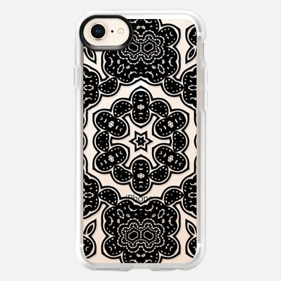 BOHO NIGHT IN BLACK - CRYSTAL CLEAR PHONE CASE - Snap Case