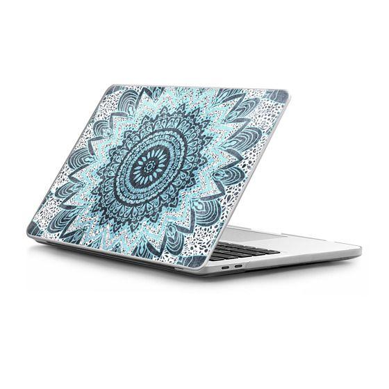 MacBook Pro Touchbar 15 Sleeves - BOHOCHIC MANDALA IN BLUE - MACBOOK SLEEVE