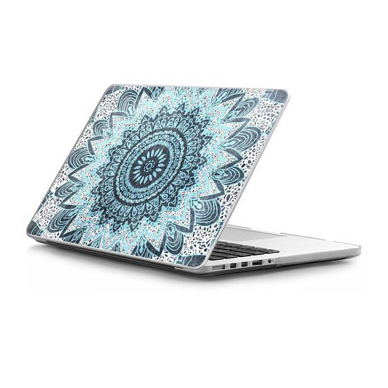 MacBook Pro Retina 15 Sleeves - BOHOCHIC MANDALA IN BLUE - MACBOOK SLEEVE