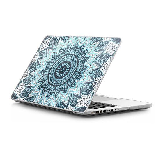 MacBook Pro 15 Sleeves - BOHOCHIC MANDALA IN BLUE - MACBOOK SLEEVE