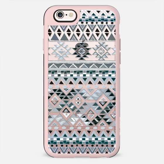 TRIBAL BOHO NATIVE - GRAY // CRYSTAL CLEAR PHONE CASE - New Standard Case