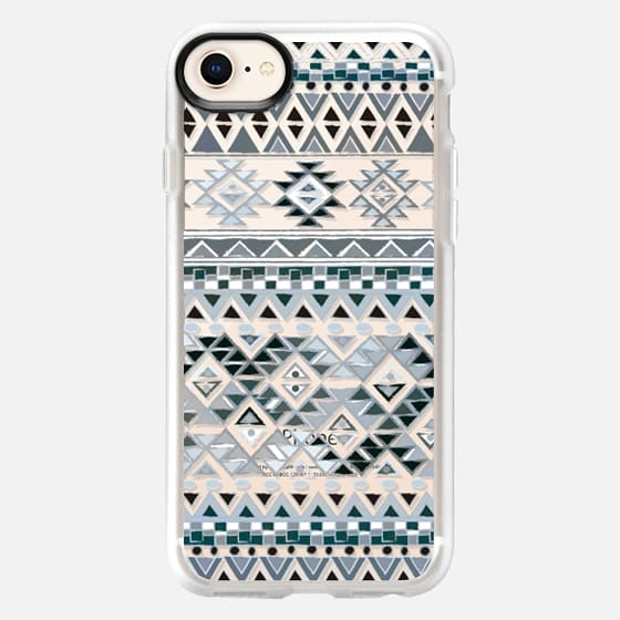 TRIBAL BOHO NATIVE - GRAY // CRYSTAL CLEAR PHONE CASE - Snap Case
