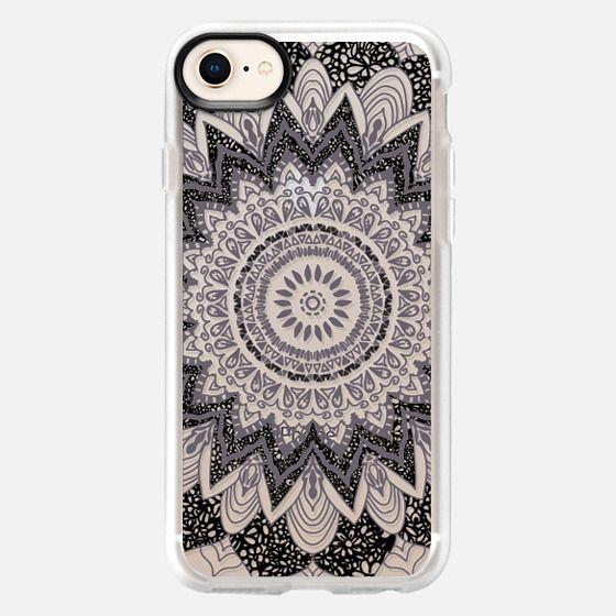 BOHO CHIC GRAY MANDALA - CRYSTAL CLEAR PHONE CASE - Snap Case
