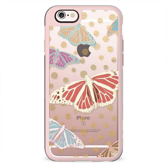 SUMMER BUTTERFLIES - CRYSTAL CLEAR PHONE CASE