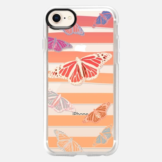 NAUTICAL BUTTERFLIES - TRANSPARENT PHONE CASE - Snap Case