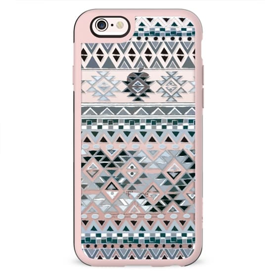 TRIBAL BOHO NATIVE - GRAY // CRYSTAL CLEAR PHONE CASE