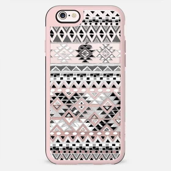TRIBAL BOHO NATIVE - BW // CRYSTAL CLEAR PHONE CASE - New Standard Case