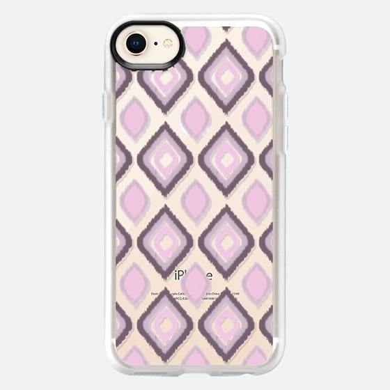 GIBSY IKAT IN PINK - CRYSTAL CLEAR PHONE CASE - Snap Case