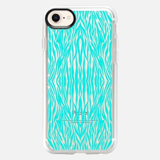 MINT ZEBRA - CRYSTAL CLEAR PHONE CASE - Snap Case