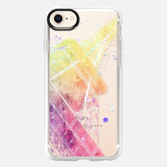 PARIS JE TE AIME - PASTEL WATERCOLOR - CRYSTAL CLEAR PHONE CASE - Snap Case