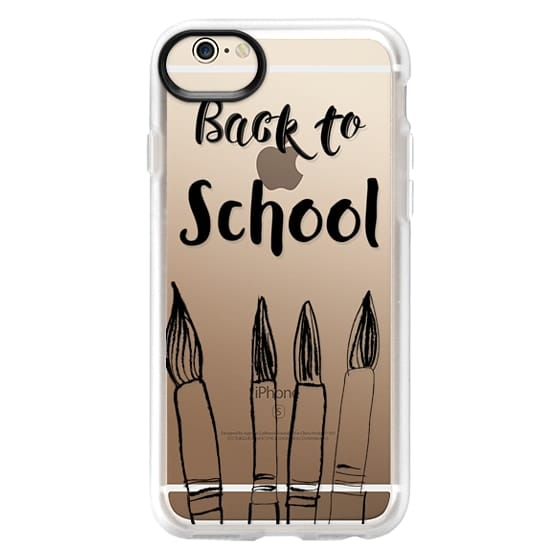 iPhone 6 Cases - BACK TO SCHOOL in black - Crystal Clear Phone Case