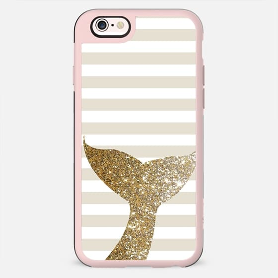 GLITTER SIRENE TAIL IN GOLD - PHONE CASE - New Standard Case