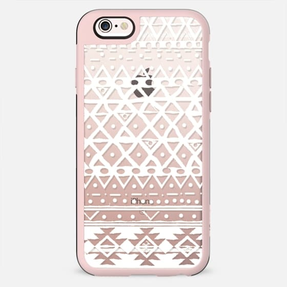 WHITE TRIBAL - PHONE CRYSTAL CLEAR CASE - New Standard Case