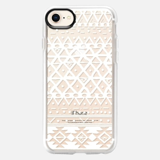 WHITE TRIBAL - PHONE CRYSTAL CLEAR CASE - Snap Case