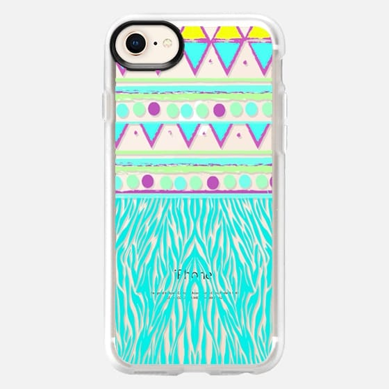 ANIMAL TRIBAL - CRYSTAL CLEAR PHONE CASE - Snap Case