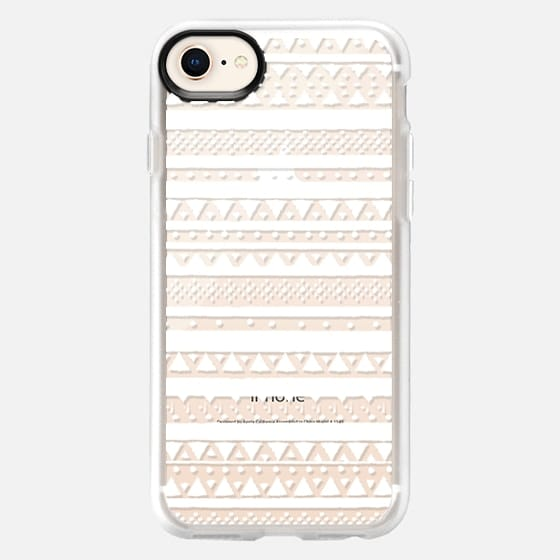 WHITE TRIBAL - CRYSTAL CLEAR PHONE CASE - Snap Case