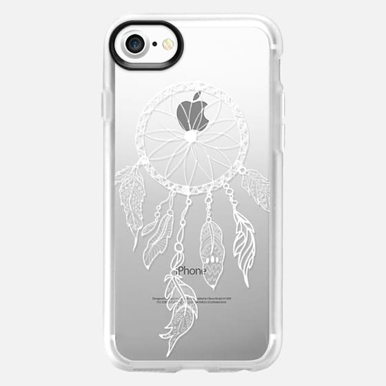 WHITE DREAMCATCHER - CRYSTAL CLEAR PHONE CASE - Classic Grip Case