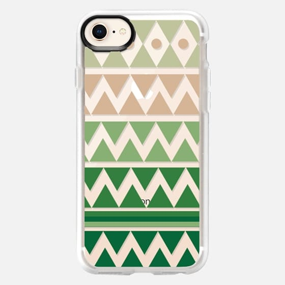 Emerald Tribal Chevron - Crystal Clear Phone Case - Snap Case