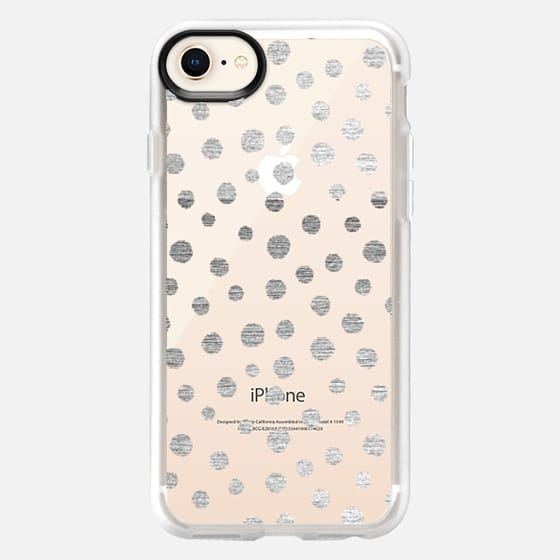 SILVERED DOTS - PHONE CRYSTAL CLEAR CASE - Snap Case