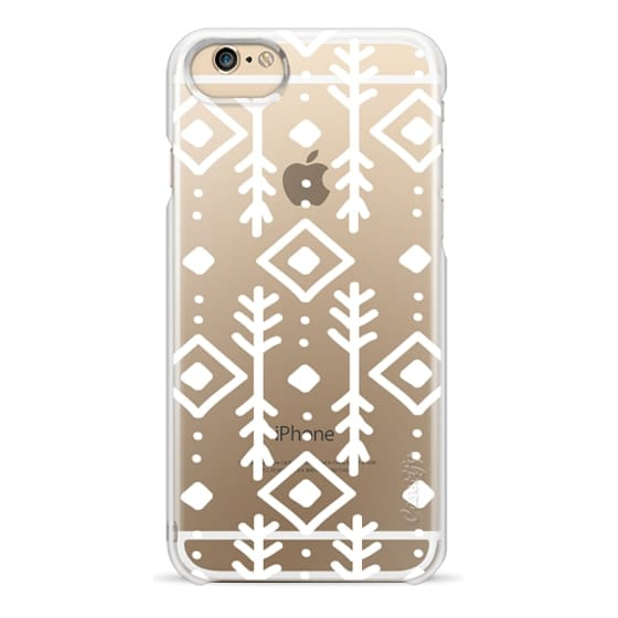 iPhone 6 Cases - NORDIC IN WHITE - CRYSTAL CLEAR PHONE CASE
