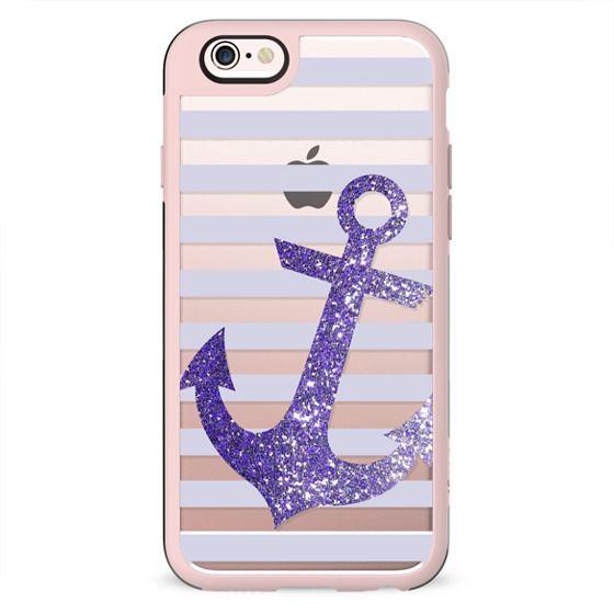 Glitter Anchor in Purple
