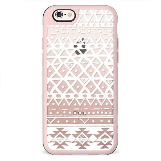 WHITE TRIBAL - PHONE CRYSTAL CLEAR CASE