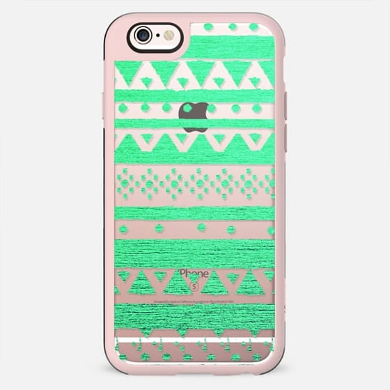 TEAL TRIBAL - CRYSTAL CLEAR PHONE CASE - New Standard Case