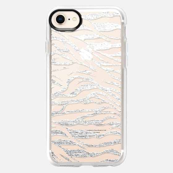 SILVER ZEBRA - CRYSTAL CLEAR PHONE CASE - Snap Case