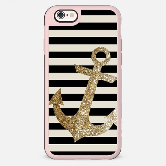 GLITTER ANCHOR IN GOLD AND BLACK  - New Standard Case