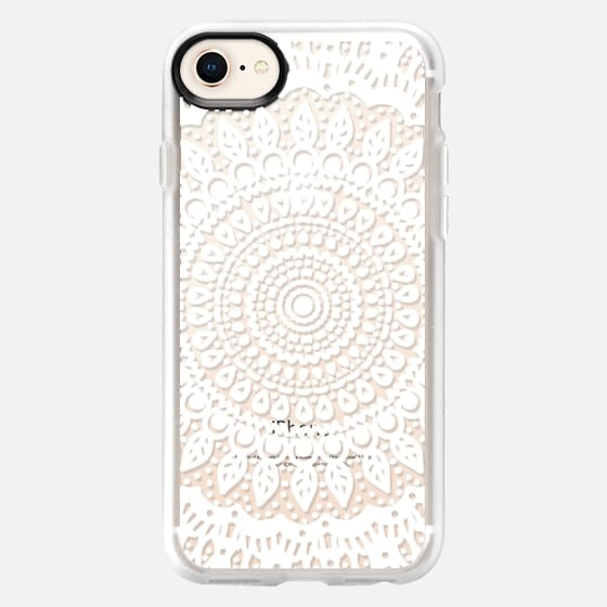 Tribal Boho Mandala in White // Crystal Clear Phone Case - Snap Case