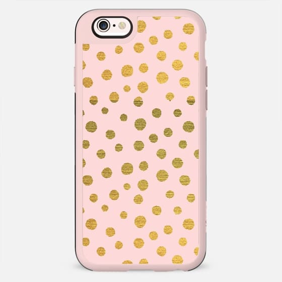 GOLDEN DOTS AND PINK  - New Standard Case