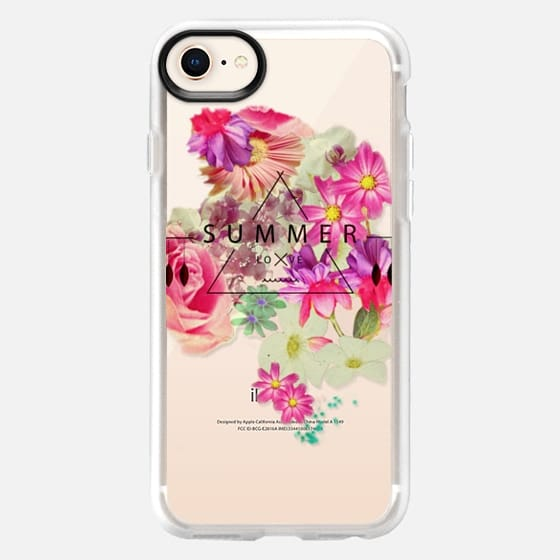 SUMMER LOVE - CRYSTAL CLEAR PHONE CASE - Snap Case