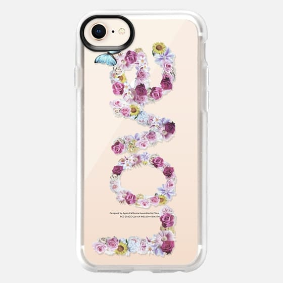 FLORAL LOVE - CRYSTAL CLEAR PHONE CASE - Snap Case