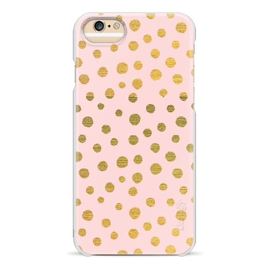 iPhone 6s Cases - GOLDEN DOTS AND PINK